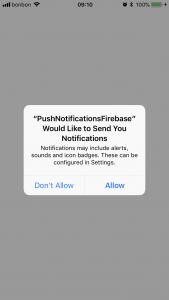 push notifications ios firebase